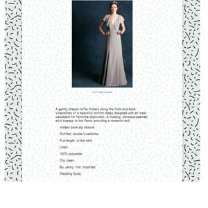 9bb23d96db1 Metallic Buff Dresses - Jenny Yoo Blake Bib front crepe de Chine 10  287AT